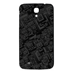 Black Rectangle Wallpaper Grey Samsung Galaxy Mega I9200 Hardshell Back Case