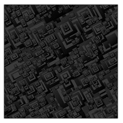 Black Rectangle Wallpaper Grey Large Satin Scarf (Square)