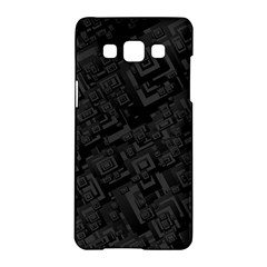 Black Rectangle Wallpaper Grey Samsung Galaxy A5 Hardshell Case