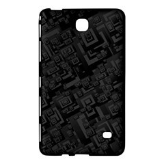 Black Rectangle Wallpaper Grey Samsung Galaxy Tab 4 (7 ) Hardshell Case