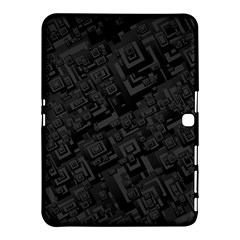 Black Rectangle Wallpaper Grey Samsung Galaxy Tab 4 (10.1 ) Hardshell Case