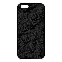 Black Rectangle Wallpaper Grey iPhone 6/6S TPU Case