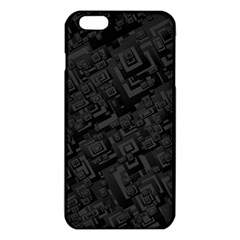 Black Rectangle Wallpaper Grey iPhone 6 Plus/6S Plus TPU Case
