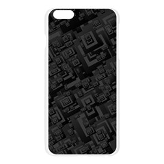 Black Rectangle Wallpaper Grey Apple Seamless iPhone 6 Plus/6S Plus Case (Transparent)