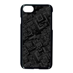 Black Rectangle Wallpaper Grey Apple iPhone 7 Seamless Case (Black)
