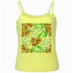 Broken Tile Texture Background Yellow Spaghetti Tank