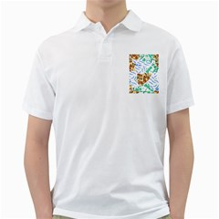 Broken Tile Texture Background Golf Shirts