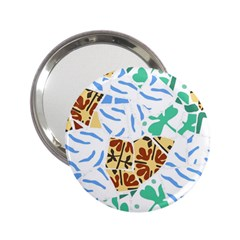 Broken Tile Texture Background 2.25  Handbag Mirrors