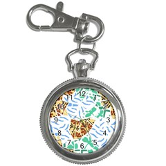 Broken Tile Texture Background Key Chain Watches