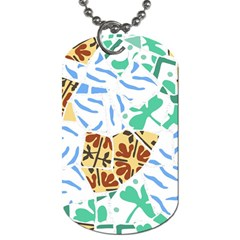 Broken Tile Texture Background Dog Tag (One Side)
