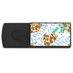 Broken Tile Texture Background USB Flash Drive Rectangular (1 GB)