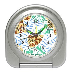 Broken Tile Texture Background Travel Alarm Clocks
