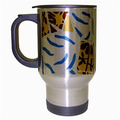 Broken Tile Texture Background Travel Mug (Silver Gray)
