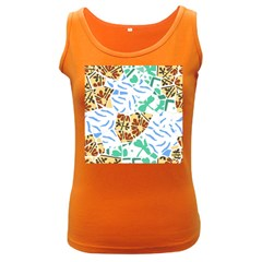 Broken Tile Texture Background Women s Dark Tank Top