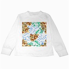 Broken Tile Texture Background Kids Long Sleeve T-Shirts