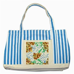 Broken Tile Texture Background Striped Blue Tote Bag
