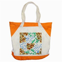 Broken Tile Texture Background Accent Tote Bag
