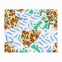 Broken Tile Texture Background Small Glasses Cloth (2-Side)