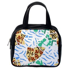 Broken Tile Texture Background Classic Handbags (One Side)