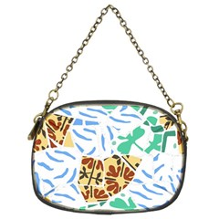 Broken Tile Texture Background Chain Purses (Two Sides)
