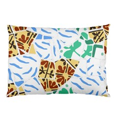 Broken Tile Texture Background Pillow Case