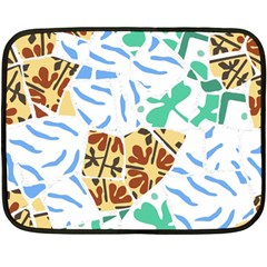 Broken Tile Texture Background Fleece Blanket (Mini)