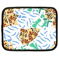 Broken Tile Texture Background Netbook Case (XL)