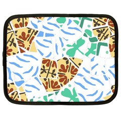 Broken Tile Texture Background Netbook Case (XXL)