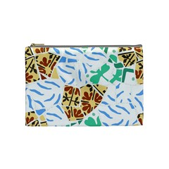 Broken Tile Texture Background Cosmetic Bag (Medium)