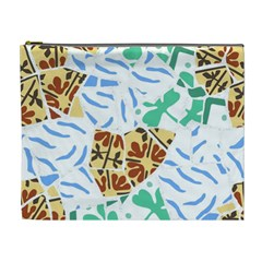 Broken Tile Texture Background Cosmetic Bag (XL)