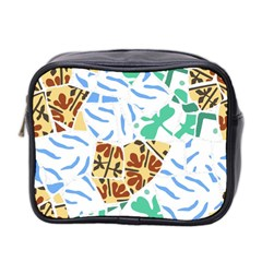 Broken Tile Texture Background Mini Toiletries Bag 2-Side