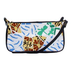Broken Tile Texture Background Shoulder Clutch Bags