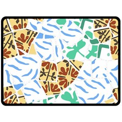 Broken Tile Texture Background Fleece Blanket (Large)
