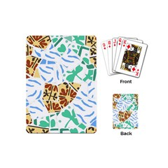 Broken Tile Texture Background Playing Cards (Mini)