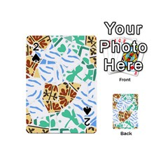 Broken Tile Texture Background Playing Cards 54 (Mini)