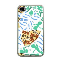 Broken Tile Texture Background Apple iPhone 4 Case (Clear)