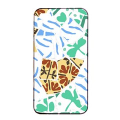 Broken Tile Texture Background Apple iPhone 4/4s Seamless Case (Black)
