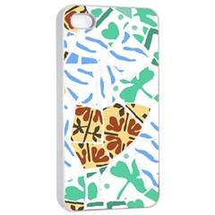 Broken Tile Texture Background Apple iPhone 4/4s Seamless Case (White)