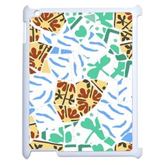 Broken Tile Texture Background Apple iPad 2 Case (White)