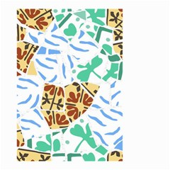 Broken Tile Texture Background Small Garden Flag (Two Sides)