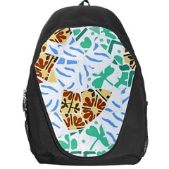 Broken Tile Texture Background Backpack Bag