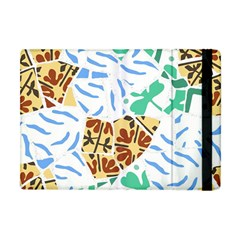 Broken Tile Texture Background Apple iPad Mini Flip Case