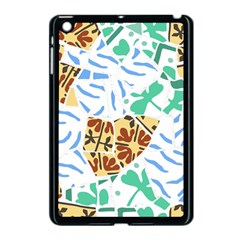 Broken Tile Texture Background Apple iPad Mini Case (Black)