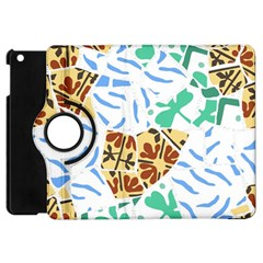 Broken Tile Texture Background Apple iPad Mini Flip 360 Case