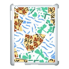 Broken Tile Texture Background Apple iPad 3/4 Case (White)
