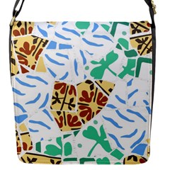 Broken Tile Texture Background Flap Messenger Bag (S)