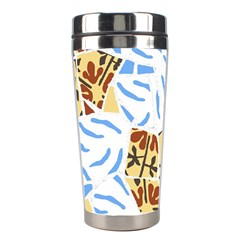 Broken Tile Texture Background Stainless Steel Travel Tumblers