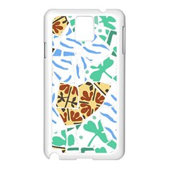 Broken Tile Texture Background Samsung Galaxy Note 3 N9005 Case (White)