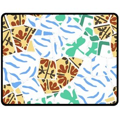 Broken Tile Texture Background Double Sided Fleece Blanket (Medium)