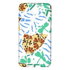 Broken Tile Texture Background Samsung Galaxy S5 Back Case (White)